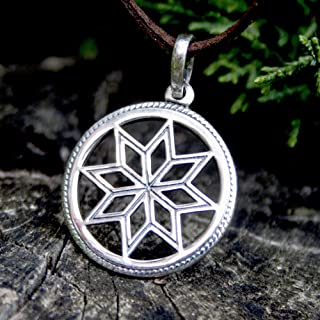 8 pointed star necklace