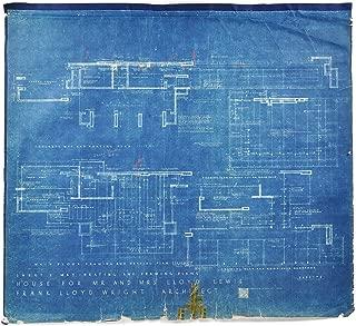 "Frank Lloyd Wright -""Lloyd Lewis House"" - Original Blueprint, 1939"