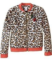 Little Marc Jacobs - Resort - Faux Fur Leopard Jacket with Cherry Patch (Little Kids/Big Kids)