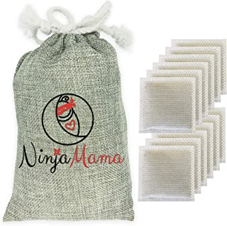 Nappy Bin Deodorisers, Fits Angelcare, Ubbi & More - Eco Friendly Natural Bamboo Air Purifier Deodorising Carbon Charcoal ...
