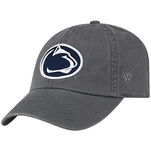 save off a546e 14de6 Top of the World NCAA Men s Hat Adjustable Relaxed Fit Charcoal Icon