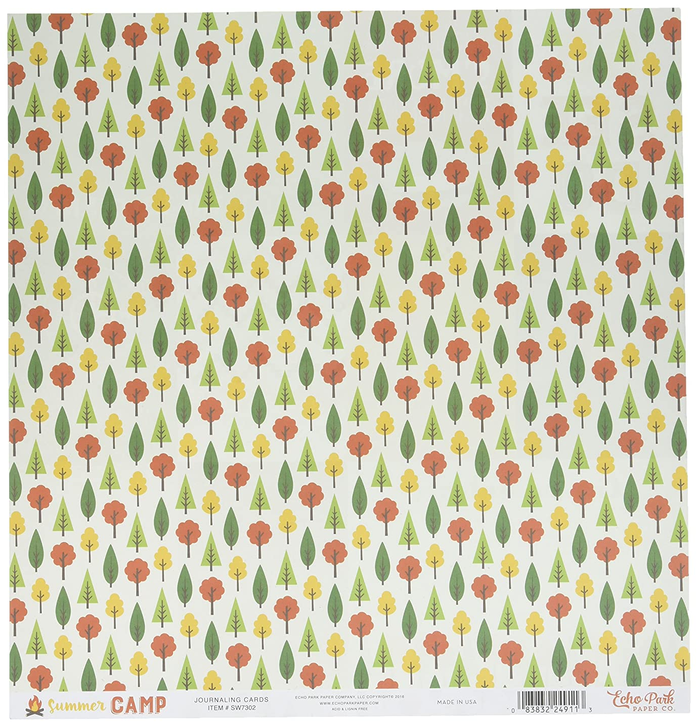 Echo Park Paper Summer Camp Double-Sided Cardstock 12