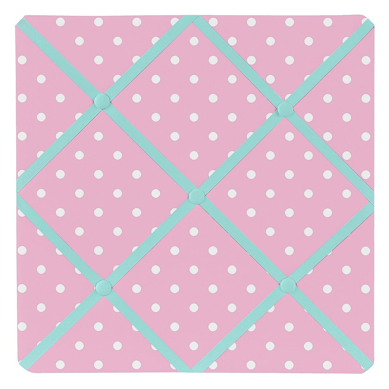 Sweet Jojo Designs Pink Polka Dot and Turquoise Skylar Fabric Memory/Memo Photo Bulletin Board