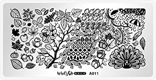 Whats Up Nails - A011 Leaves Are Fall-ing Stamping Plate for Autumn Nail Art Design