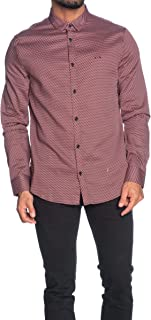 A|X Armani Exchange Long Sleeve Button Up Design Shirt