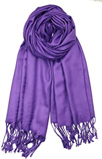 Achillea Soft Silky Solid Pashmina Shawl Wrap Scarf for...