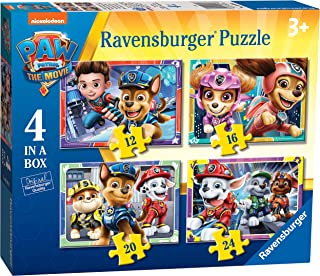 Ravensburger Paw Patrol The Movie 4 in Box (12, 16, 20, 24 Pieces) Jigsaw Puzzles for Kids Age 3 Years Up
