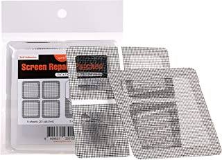 "by.RHO Window and Door Screen Repair Patch kit. 25 Patches, Black (1?"" x 1?"" x 20pcs) (3½"" x 3½"" x 5pcs)"