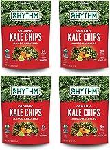 Rhythm Superfoods Kale Chips, Mango Habanero, Organic and Non-GMO, 2.0 Oz (Pack of 4), Vegan/Gluten-Free Superfood Snacks