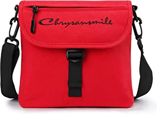 Canvas Messenger Bag For Men Women Small Travel School Crossbody Shoulder Bags Heritage Tour Bag - Red