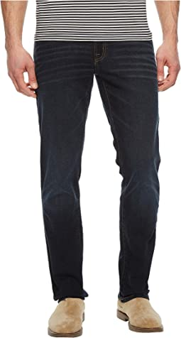 Five-Pocket Slim Straight Jeans in Dark Wash
