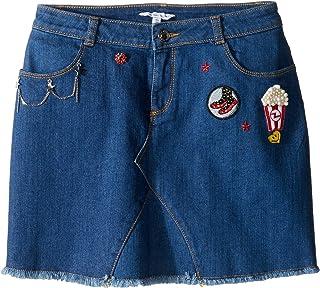 [マークジェイコブス] Little Marc Jacobs レディース Denim Skirt (Big Kids) スカート Denim Blue 12 L Big Kids [並行輸入品]
