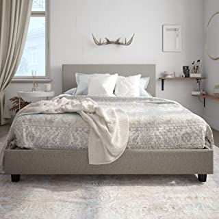 grey bed frame