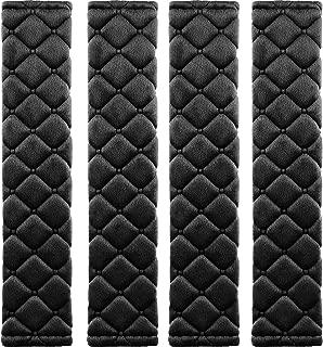 MIKAFEN 4 Pack Universal Car Seat Belt Pads, Adult Seat Belt Shoulder Strap Covers Harness Pad for Car/Bag,Soft Comfort Helps Protect You Neck Shoulder from The Seat Belt Rubbing(Black)