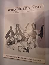 Sheet Music 1956 Who Needs You The Four Lads 189