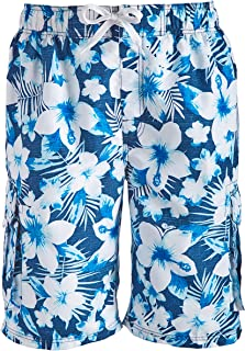 Kanu Surf Men's Dominica Floral Quick Dry Beach Board Shorts Swim Trunk