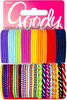 Goody Girls Ouchless Hair Elastics Perfect for Girls with Fine Hair, Curly Hair or Sensitive Scalps (60 Pieces) (Assorted in Brights and Pastels)
