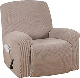 Turquoize Stretch Recliner Cover Recliner Chair Cover Recliner Slipcover 1-Piece Sofa Cover with Side Pocket Jacquard Sofa...