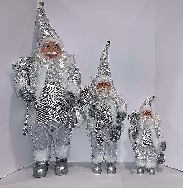 3 Christmas Santa 最安値 Claus Traditional Standing 通販 Figurine Decoration