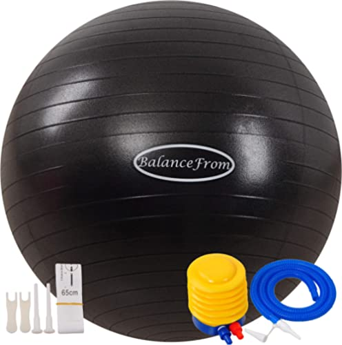 BalanceFrom Anti-Burst and Slip Resistant Exercise Ball Yoga Ball Fitness Ball Birthing Ball with Quick Pump, 2,000-P...