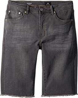 The Bryson Denim Shorts in Graphite (Big Kids)