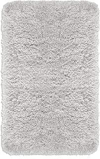 Popular Bath Imperial Shaggy Bath Rug, 20x32, Light Grey