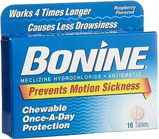 Bonine Chewable Tablets, Raspberry, 16 ct