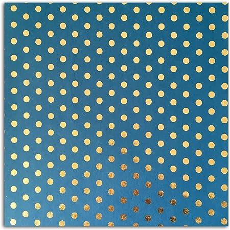 Toga PRX220 lOr de Bombay 1 Feuille de Papier Recycl/é Papier Pois Bleu 38 x 56 x 0.1 cm