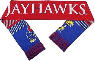 NCAA Kansas Jayhawks Reversible Split Logo Scarf, One Size, Team Color