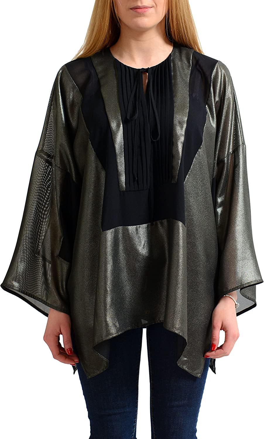 Just Cavalli Women's Sparkle Loose Style Blouse Top US S IT 40