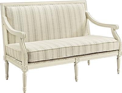Linon Home Décor Jenni Ivory Settee Chair