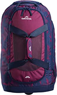 Kathmandu Tailspin Duffel Style Carry-On Trolley with Carry Straps & Handle