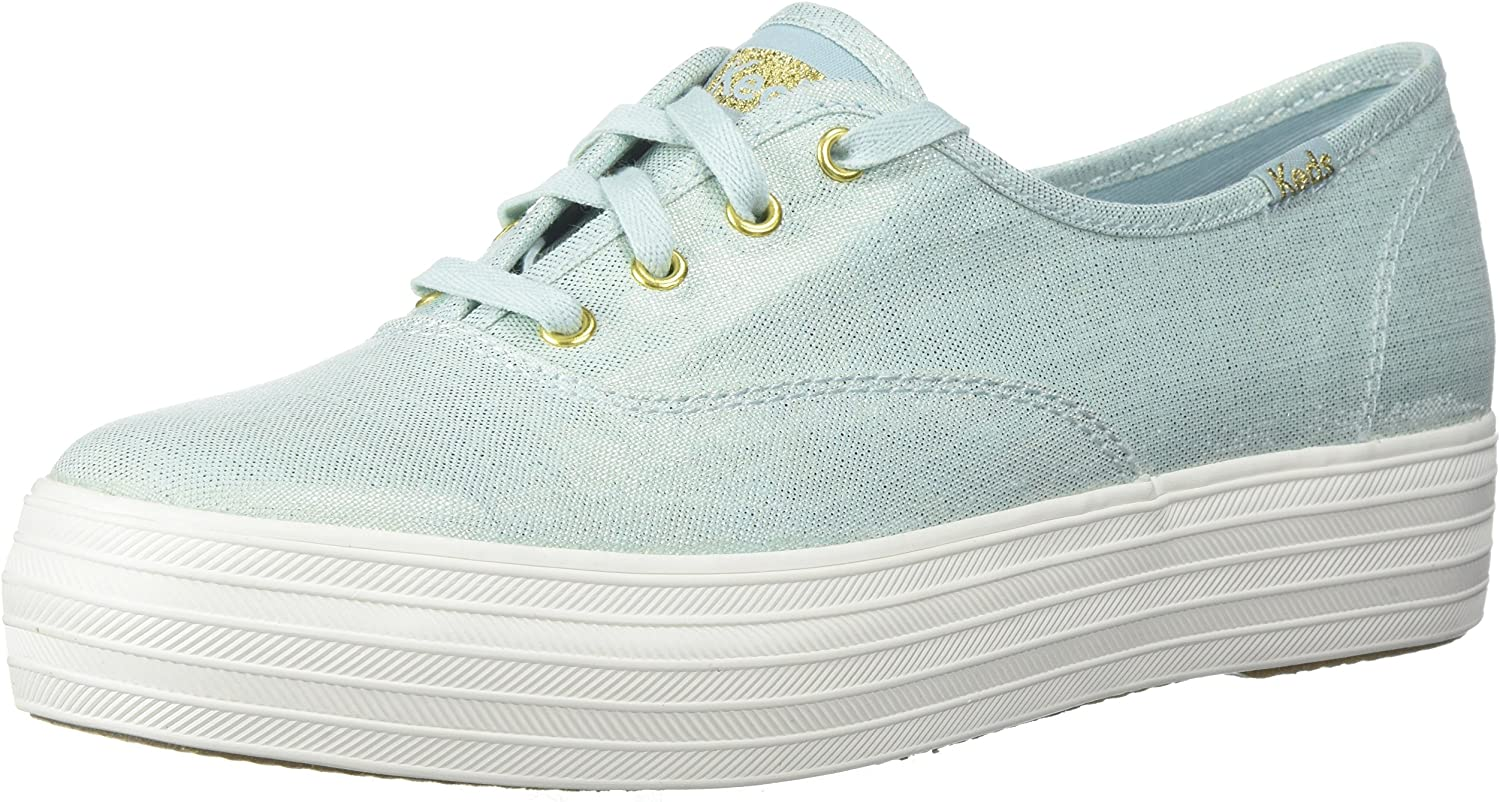 Keds Women's Triple Metallic Linen Sneakers