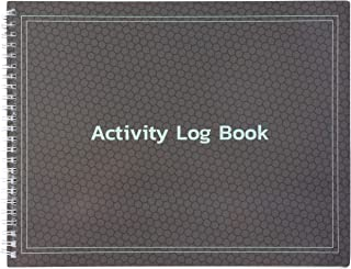 Juvale Spiral Bound Daily Activity Log and Client Record Book for Business Offices and Call Centers, 8.5 x 11 Inches
