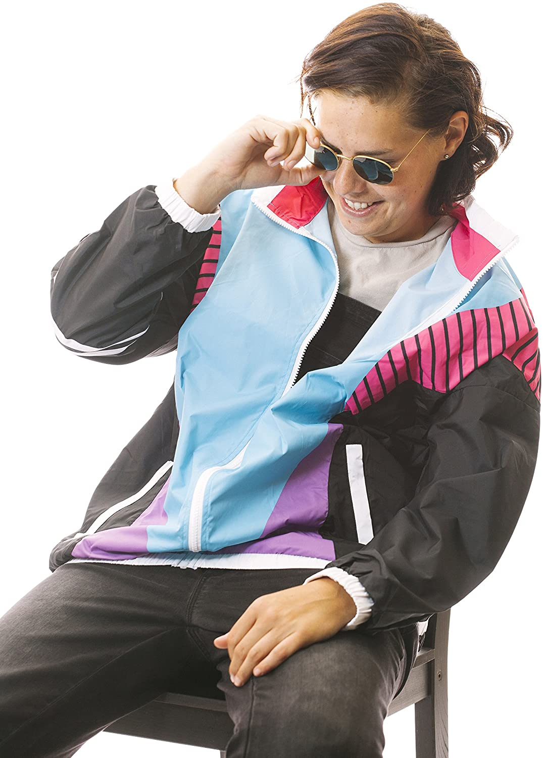 90s Outfits for Guys | Trendy, Party, Cool, Casaul Funny Guy Mugs 80s & 90s Retro Neon Windbreakers  AT vintagedancer.com