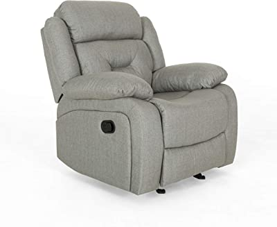 Christopher Knight Home Betty Glider Recliner Chair, Grey