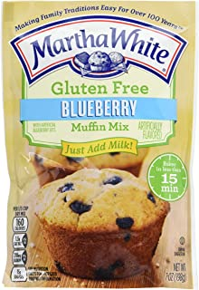 Martha White Gluten Free Muffin Mix With Artificial Blueberry Bits, 7 Oz (Pack Of 12)