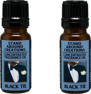 Set of 2 - Concentrated Fragrance Oil - Scent - Black Tie: Sophisticated notes of leather w/warm woods, patchouli, musk. Infused w/essential oils (.33 fl.oz.)