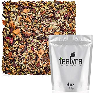 Tealyra - Senna Quick Cleanse - Detox Blend - Hibiscus - Rosehip - Pomegranate - Herbal Fruity Loose Leaf Tea - Hot or Ice...