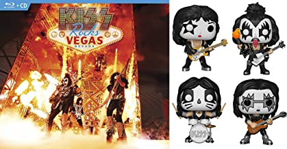 Las Vegas Invaded! Rock Vegas Super Pack: Kiss Rocks Vegas (Blu-ray + CD) & The Complete Pop Set- KISS Collectible Vinyl Figures The Demon, The Starchild, The Spaceman and the Catman!