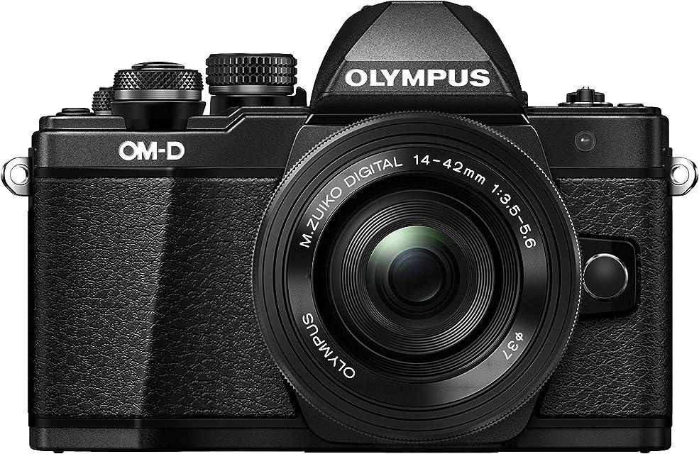 Olympus OM-D E-M10 Mark II - Kit con Cámara de Sistema Micro Cuatro Tercios y Objetivo M.Zuiko 14-42 mm EZ Negro
