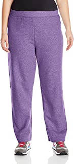 Just My Size Women's Plus-Size Fleece Sweatpant, Violet Splendor Heather, 5XL