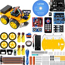 LAFVIN Smart Robot Car Kit for UNO Include Ultrasonic Sensor, Bluetooth Module for Arduino R3 with Tutorial