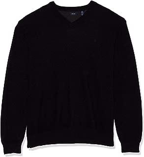 Men's Big and Tall Premium Essentials Solid V-Neck 12 Gauge Sweater