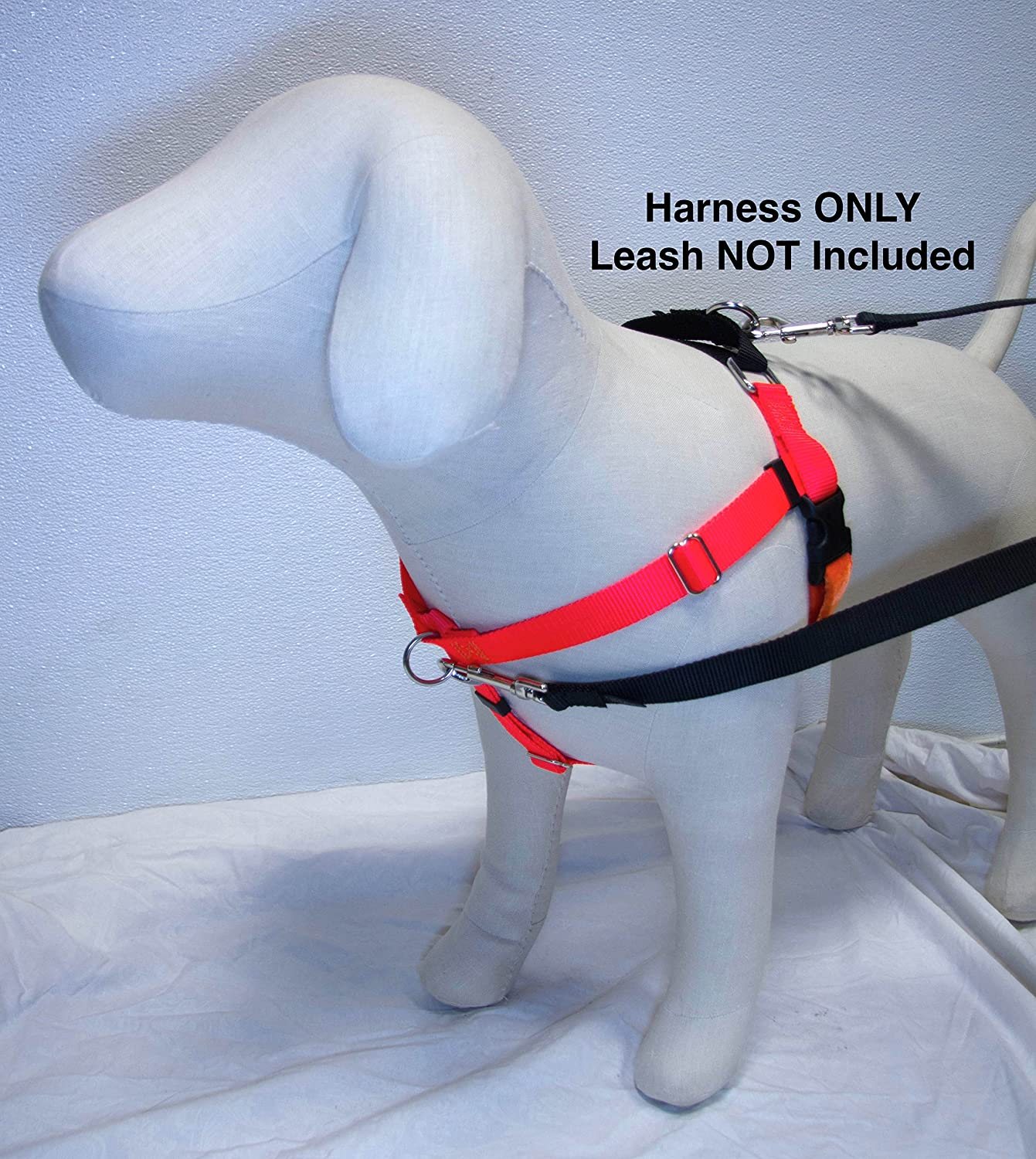 1  LG Freedom NoPull Harness ONLY Available in 18 colors Direct from Inventor (Neon orange w Black Loop)