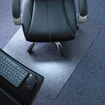 "Marvelux 30"" x 48"" Heavy Duty Polycarbonate Office Chair Mat for Low, Standard and Medium Pile Carpeted Floors 