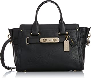 COACH Women's Pebbled Coach Swagger Carryall
