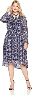 Anne Klein Women's Size Plus Long Sleeve Fit and Flare Dress