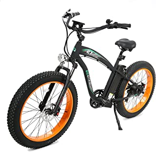 ECOTRIC Fat Tire Electric Bike Beach Snow Bicycle 4.0 inch Fat Tire 26