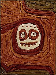 Music Poster Paul Klee - White-Brown mask 1939 Print 60x80cm